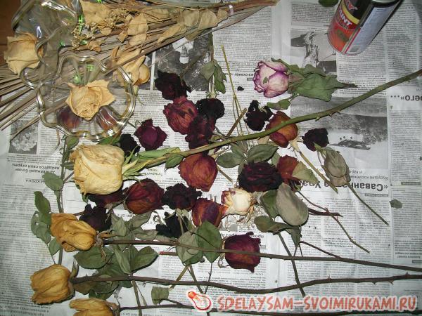 Как засушить лепестки розы в домашних условиях видео