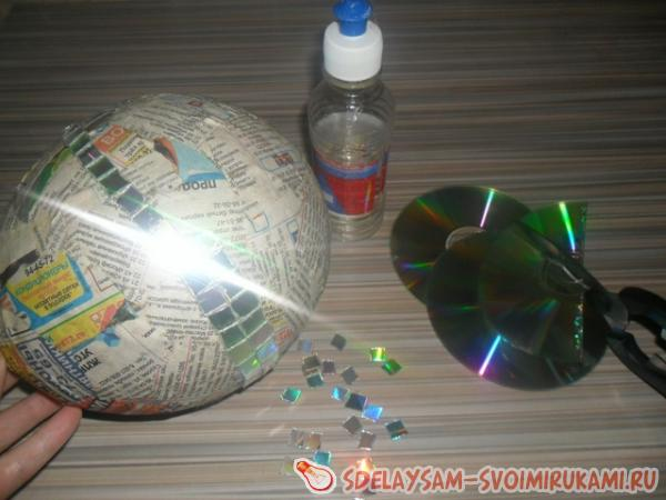 Как сделать сверкающий шар из дисков