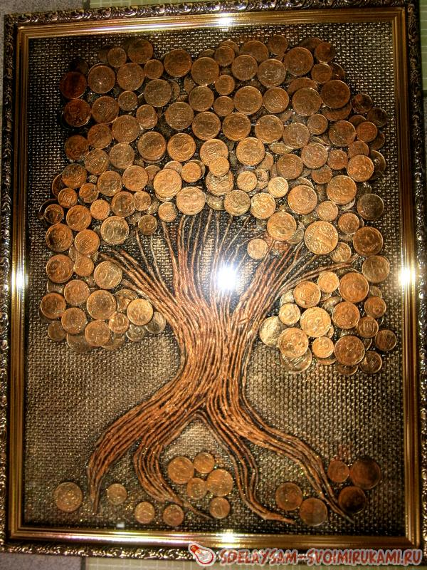 Своими руками из монет дерево