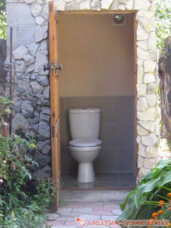 Туалет на саду