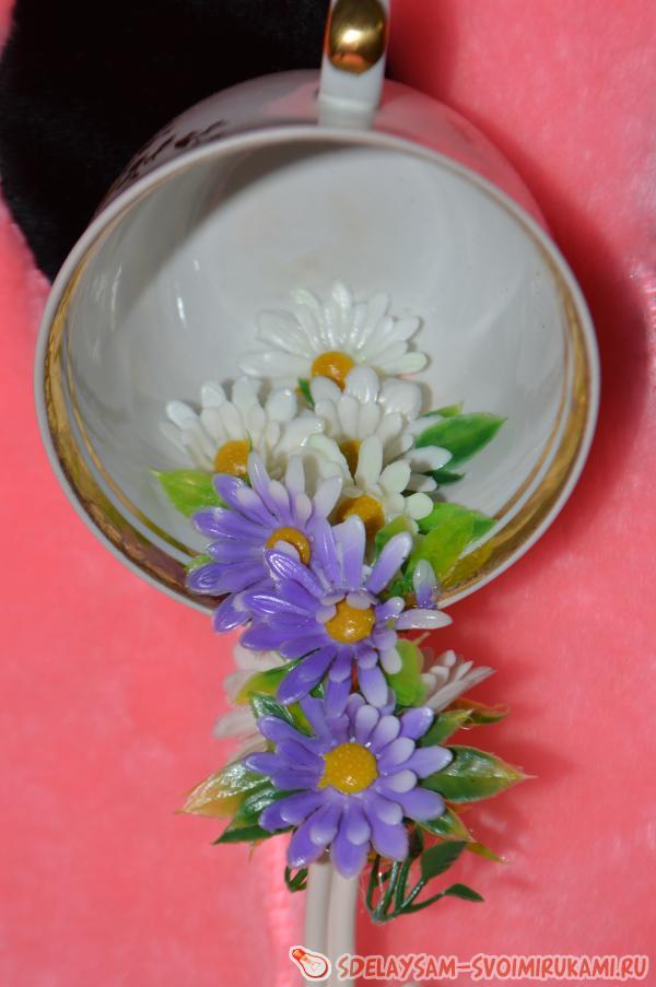 Своими руками цветы из кружки 95
