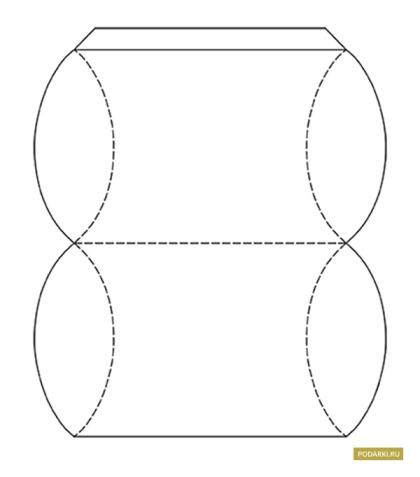 Как сделать подарочную коробку из бумаги схема