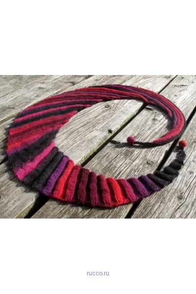 шарф волнорез красный