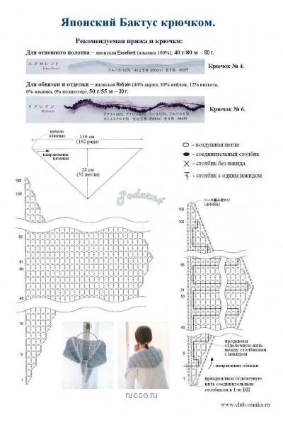 японский бактус крючком схема